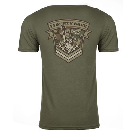 Liberty Military Green T-Shirt